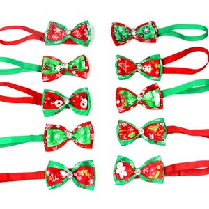 Christmas 13 Style Pet Dog Cat Necklace Adjustable Strap For Cat Collar Dogs Accessories Christmas Series Pet Dog Bow Tie Reflective Tape