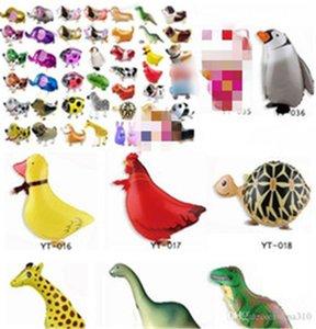 Ходьба домашних животных формы животных мультфильм воздушный шар фестиваль мультфильм формы алюминиевый фольгой шар милый для партии детские игрушки воздушный шар животных