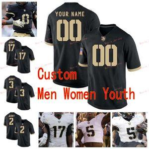 Stitched Custom 16 Malik Hancock 17 Ahmad Bradshaw 19 James Nachtigal 2 James Gibson Army Black Knights College Men Women Youth Jersey