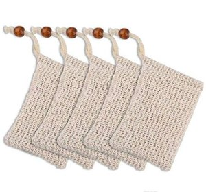Natural Exfoliating Mesh Soap Saver Sisal Soap Saver Bag Pouch Holder for Shower Bath Foaming and Drying of the Soap Clean Tools