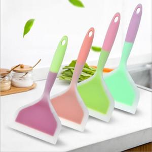 Silica Gel Spatluas Kitchen Cooking Silica Gel Spatula High Temperature Resistant Non Stick Special Spatula Color Kitchen Utensils NWB3341