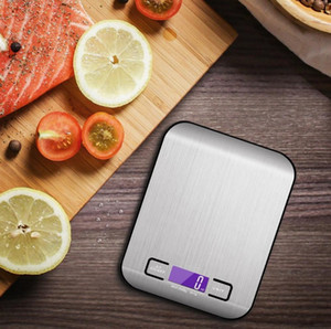 5000g 1g LED Electronic Digital Kitchen Scales Multifunction Food Scale Stainless Steel LCD Precision Jewelry Scale Weight Balance