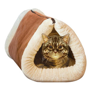 2 IN 1 Pet Bed Mat Blanket Cat Cushion Luxury Zipper Pad Fleece Sofa Cat Beds Mats