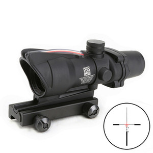 Trijicon ACOG 4X32 Style Real Red or Green Fiber Cross Arrow Reticle Duel Illuminated Rifle Scope
