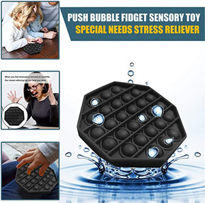 Push pop Bubble Sensory Fidget Toy,Autism Special Needs Stress Reliever Silicone Stress Reliever Toy,Squeeze Sensory Toy