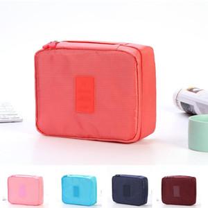 Dolove Hot-Sale Kosmetische Aufbewahrungstasche Reisetasche Make-up-Organizer Hautpflege-Speicher-Reißverschluss Kosmetik 10 Farben Waschen