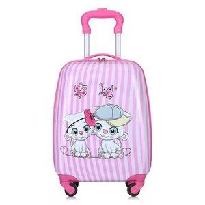 Enfants Anime Case Boy School Voyage Rolling Suitcase Girl Rose Dessin animé Chariot Enfants Sac à bagages sur roues