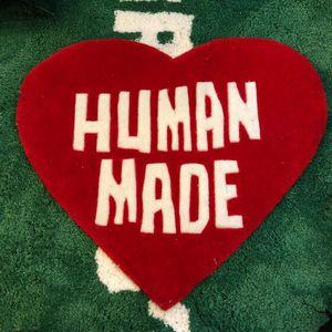 Home Furnishings 60cm HUMANMADE Heart Rug NIGO Plush Trendy Parlor Handmade Carpet Large Floor Mat Supplier