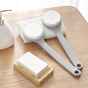 Plastic Sponge Bath Brush Rub Ash Mud Full Body Bath Brush Painless Powerful Universal Long Handle Massage Brush Shower Back Spa BH4524 WXM