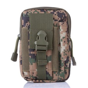Portable Phone Bag For Man Molle Waist Bag Belt Hanging Package Camouflage Sports Accessories High Quality 7 5js H1