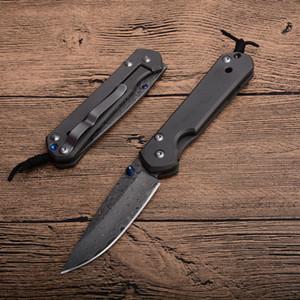 Eccellente qualità classica CR Damasco EDC Pocket Pocket Knife Pieghevole VG10 Damasco Acciaio Gocce Goccia Coltelli da collezione con scatola al minuto