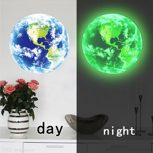 New Cartoon Luminous Moon Earth 3D Wall Sticker For Kids Room Bedroom Living Room Decoration Home Decals Glow In The Dark Stars