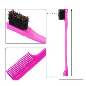 New Beauty Double Sided Edge Control Hair Comb Hair Styling Hair Brush Eyebr qylWIk sweet07