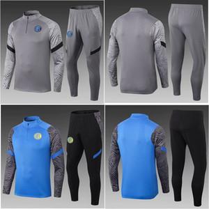 Top 20 21 Inter Milan Soccer Tracksuit Lukaku Vidal Vidal Costumes Alexis Jacket 2020 2021 Barella Lautaro Chandal Entraînement Converses Sports Wear
