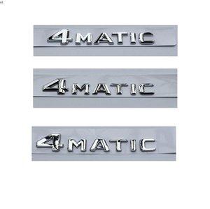 Chrome 4 M A T I C Parlak Gümüş ABS Gövde Arka Sayı Harfleri Kelimeler Rozeti Amblem Amblemler Çıkartmaları Sticker Mercedes-Benz için 4matik