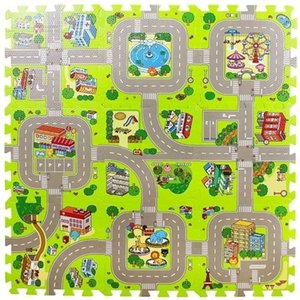 City Road Traffic Baby EVA Foam Carpet Puzzle Crawling Rugs Car Track Playmat Toddler Racing Games Play Mat Toys For Children Q1120