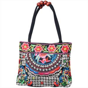 Estilo chinês mulheres bolsa bordado étnico verão moda artesanal flores senhoras sacos de ombro sacos de ombro corpo cruzado