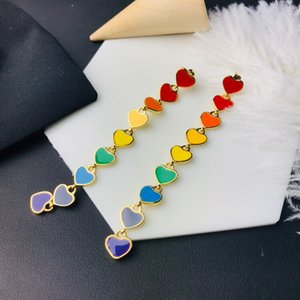 Popular Love Long Pendant Epoxy Fashion Designer Earrings luxury designer jewelry women earrings