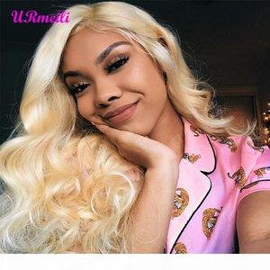 Urmeili Cheveux Body Wave 613 Bundles avec frontal Brésilien Hair Weave Bundles Vierge Human Cheveux Blonde Bundles blonds avec fermeture Vendeurs DHGate