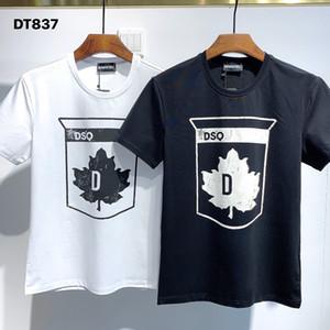 DSQ PHANTOM TURTLE 2021SS New Mens Designer T shirt Paris fashion Tshirts Summer DSQ Pattern T-shirt Male Top Quality 100% Cotton Top 1125