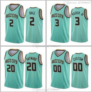 Nuevo Hombres de temporada Devonte Graham # 00 Charlottecity Team Jersey 2 Ball 20 Hayward 2020-21 Menta Verde Buzz City Jersey
