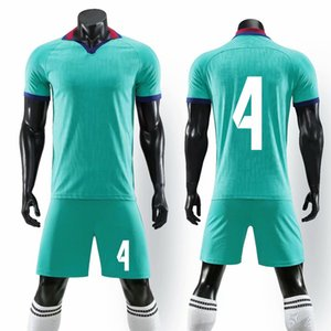 2019 Survetement Men Kids Soccer Jerseys Sets Breathable Sports Clothing Suits Team Training Football Uniform Kits Custom Number