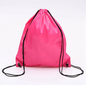 Backpacks Solid Color Drawstring Bag Monogrammable Kids Clothes Shoes Backpacks Sport Gym Bags for FITNESS YOGA RUNNING OEM Avail WZW-YW3753