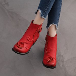 Hot Sale Plus Size 35-42 2020 Ylqp NEW Autumn Winter Women Boots Side Zipper Thick Heel Boots Shoes Woman, Ankle Martin Boots botas