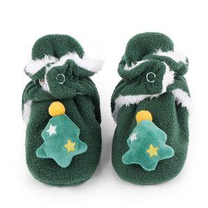 Keaiyouhuo Bebek Ayakkabıları Noel Modelleri Sonbahar ve Kış Bebek Ayakkabıları Kızlar Ve Erkek Yumuşak Soled Karikatür Pamuk Yürümeye başlayan çocuk