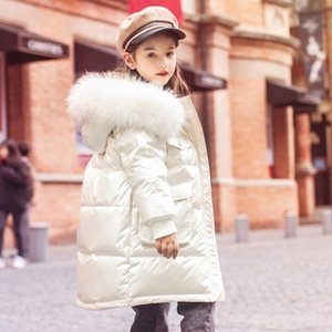 Cotton Girl Boy Padded Thick Winter Toddle Teens Loose Down Jacket Fur Hooded Coat Baby Clothes Outwear 5-16y