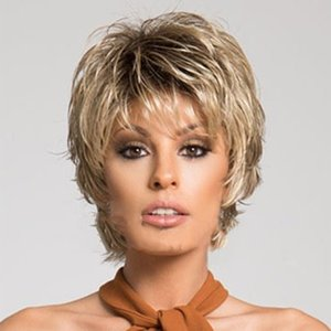 Wholesale Synthetic Hair Short Bob Hairstyle Wigs For Black Women Straight Bob Light brown Wigs Glueless new type short curly