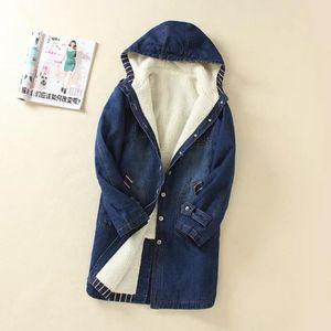 Plus Size 5xl Winter Warm Fur Denim Jacket 2020 Fashion Autumn Wool Lining Jeans Coat Women Basic Jackets Casaco Feminino