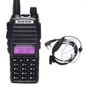 Walkie Talkie 2021 BAOFENG UV-82 Plus VHF / UHF Long Range 8W Potente aggiornamento portatile di UV-82 + 2-PATOBUSTIC TUBE Auricolare1