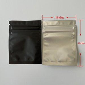 Sacchetto di imballaggio vuoto Mylar Matte Borsa a cerniera alluminabile opaca Pacchetto commestibile Asciughi Asciughi Flower Plastic Bag odore a prova di benvenuto Etichetta custodia