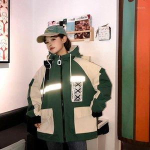 Bella Philosophy Harajuku Oversized Patchwork Jacket Mujeres 2020 Primavera Nuevo Outwear Abrigo Hip Hop Streetwear Flojo Capucha Chaquetas1