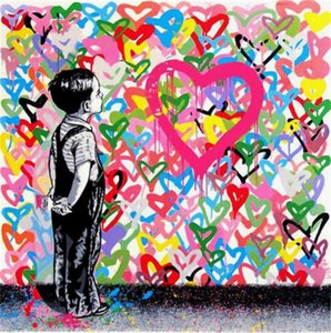 Mr Brainwash Graffiti art Girl with Balloon Home Decor Handcrafts  HD Print Oil Painting On Canvas Wall Art Canvas Pictures , F201209