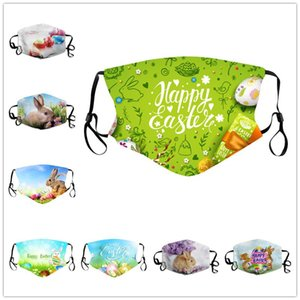 8 Designs Easter Printing Mask Washable Breathable Mask With Filter Pocket Outdoor Sport Windproof Cycling Masks Designer Masks DHD4453