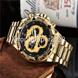 Invictable Watch Payower Series Hombres Reloj de Cuarzo Calendario Impermeable Multifunción Acero Inoxidable Relojes Reloj de Hombre