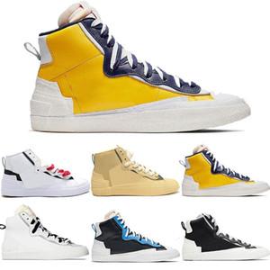 Tasarımcı Marka Yeni Blazer Rahat Koşu Ayakkabıları Orta Erkek Kombine Dunk Yüksek Kesim Üniversitesi Mavi Beyaz Kırmızı Siyah Gri Spor Sneakers