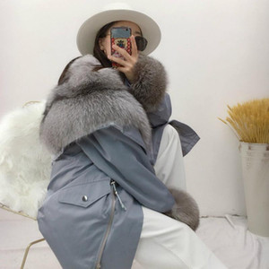 OFTBUY 2020 New Real Fur Parka Winter Jacket Women Natural Fur Collar Liner Coat Thick Warm Outerwear Detachable