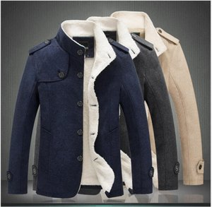 Trendy men's casual new jacket with stand-up collar and fluffy collar jacket to keep warm and thick Outwear coat Jacket Male Clothing