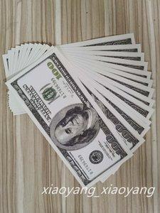 EE. UU. Dólar Play Money Barware Fake Billet 20 50 100 Dollar Faux Bills Billet Banknote Disparando la película 100pcs / Pack