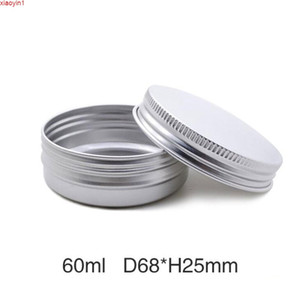 60ml Cream Jar Metal Aluminum Round Tin Cans Box Empty Candle Ointment Sample Screw Cap 50pcs lot Random Colorhigh quatity