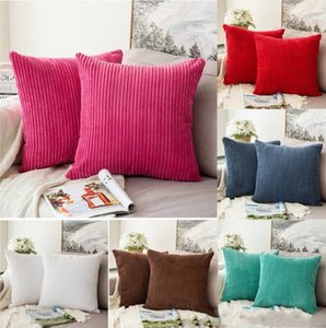 Pillow Case Wave Striped Pillow Cover Home Sofa Throw Pillow Cases Square Cushion Cover Christmas Car Decorative Bedroom Decor DHB2616