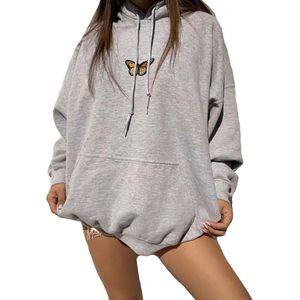 WJS02 2020 Brand Hoodies Womens Fashion Sweatshirt butterfly prited Inspired Aesthetic Women Hooded Sweatshirt Size S-XL