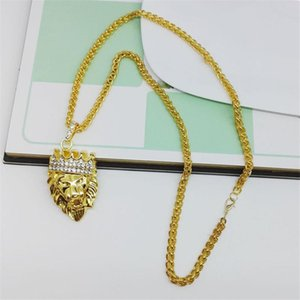 Steel Soldier Drop Shipping Hip Hop Man Necklace Punk Lion Jewelry Accessories