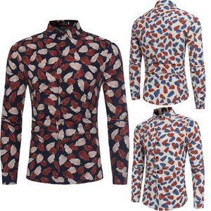 THEFOUND Casual Luxury New Fashion Mens Slim Fit Shirt Long Sleeve Dress Shirts Casual Shirt Top