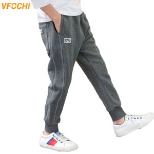 VFOCHI New 4-16T Boys Pencil Pants Autumn Winter Kids Trousers Teenage Children Clothing Elastic Waist Casual Boy Sport Pants LJ201127