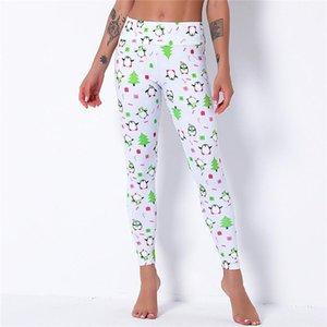 Christmas Leggings Women Sexy High Waist Yoga Leggings Fitness Pants Ladies Animals Printed Polyester Pants Halloween