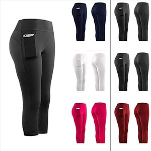 Women Sports Pant Running Active Lounge Jogger Capris With Side Pockets Feeling Leggings Stretch Quality Pantalones Mujer T1P